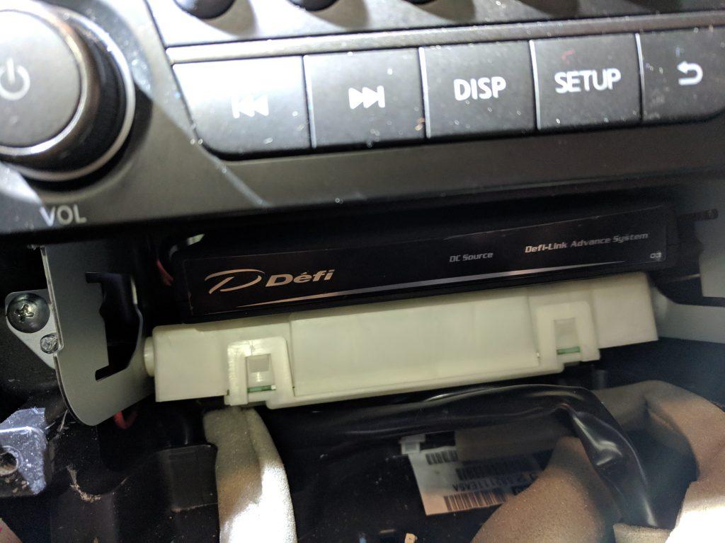 Defi control unit mount location -- front