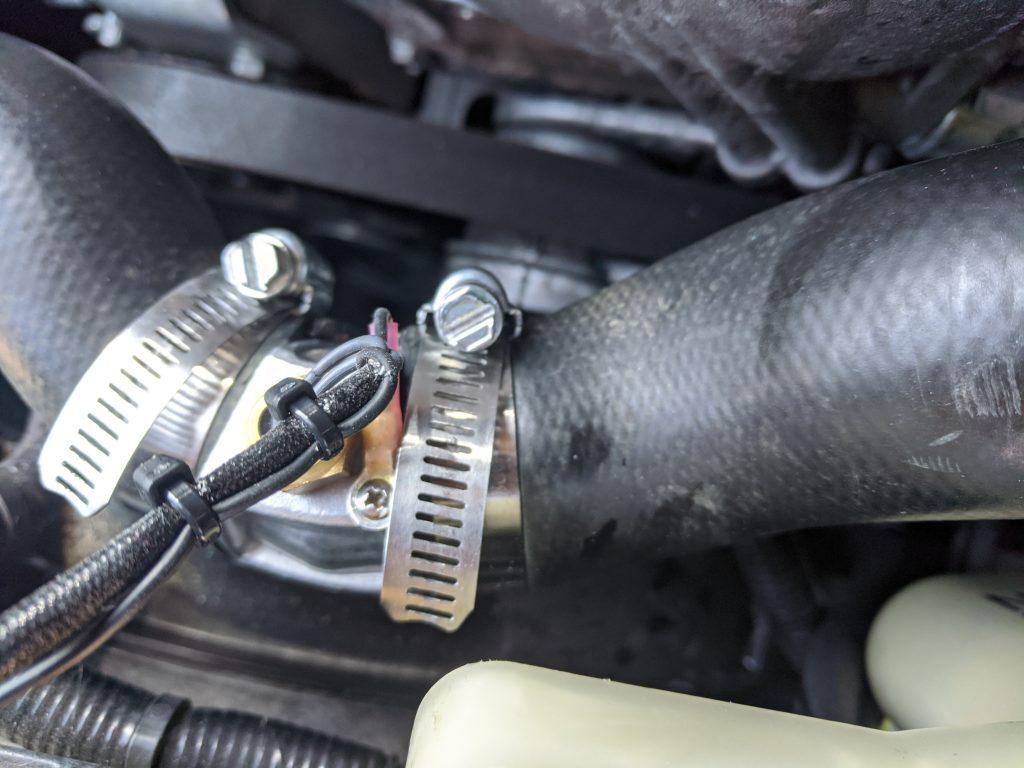 Modified upper radiator hose